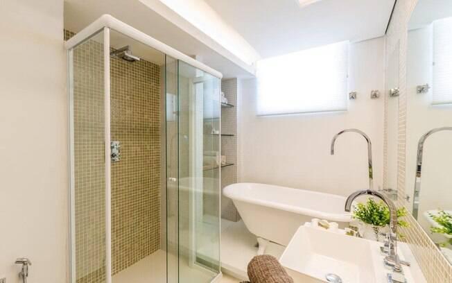 banheiro decorado pastilha bege 6 jpg Car Tuning -> Banheiro Decorado Com Pastilha No Box