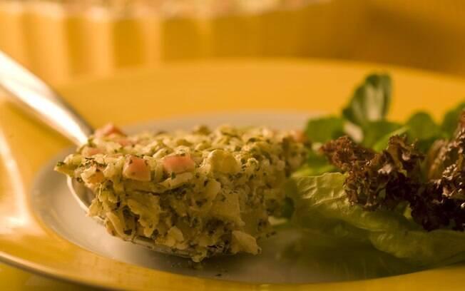 Clique e veja receita de arroz de forno light com peito de peru