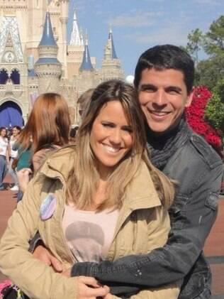 Fernanda Pontes com o marido Diogo Boni