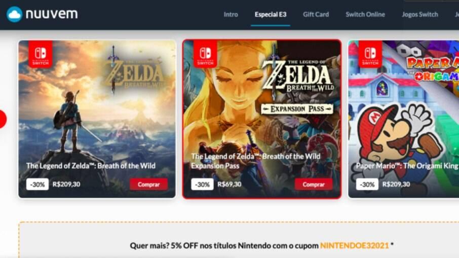 Nintendo faz 1ª promoção oficial na Nuuvem