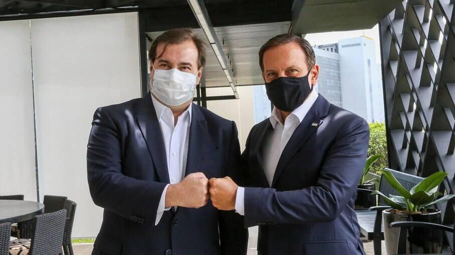 Maia declara apoio a João Doria como nome da 3ª via na disputa pelo Planalto