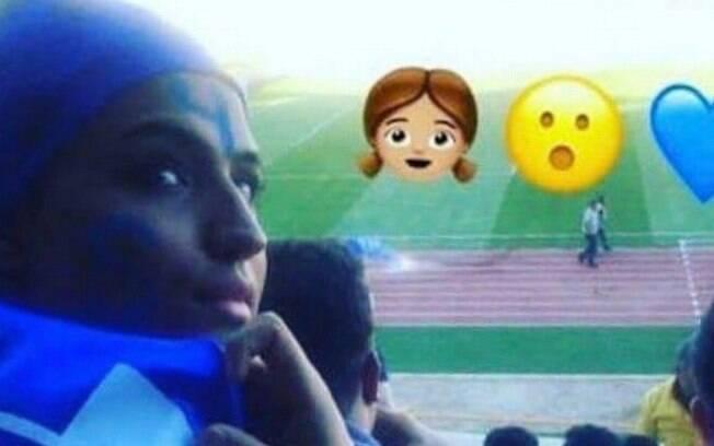 Foto divulgada por ONGs da iraniana identificada apenas como Sahar que ateou fogo no próprio corpo