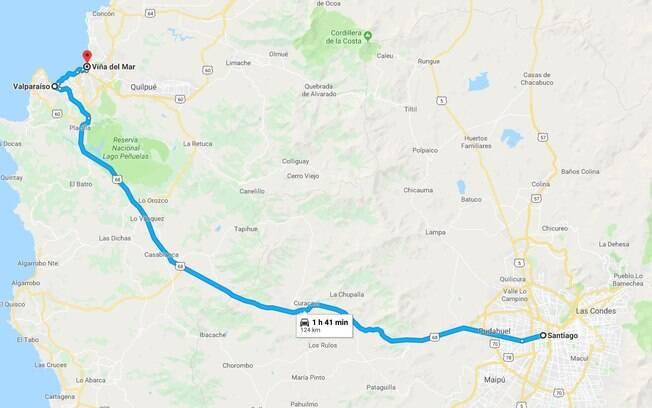 Eis a rota traçada na parte 2 da viagem com o Nissan X-Trail