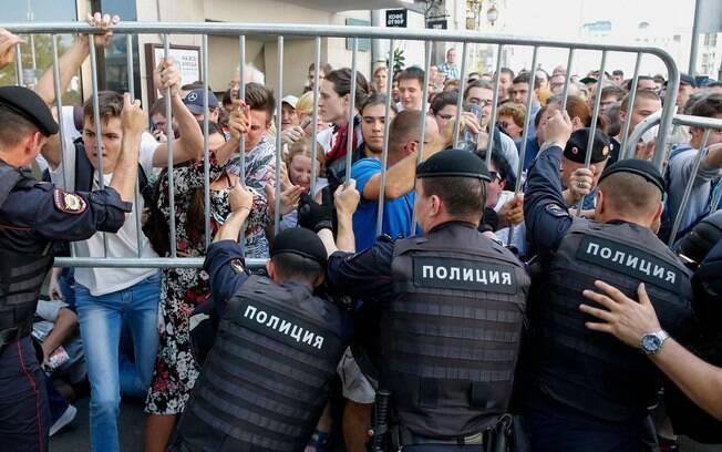 Justiça russa trata protestos da oposição como 'desordem maciça'