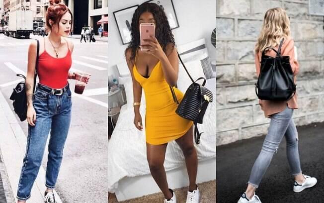 Apostar em looks mochila de couro que sigam um estilo casual pode ser uma boa ideia para quem quer ficar confortável