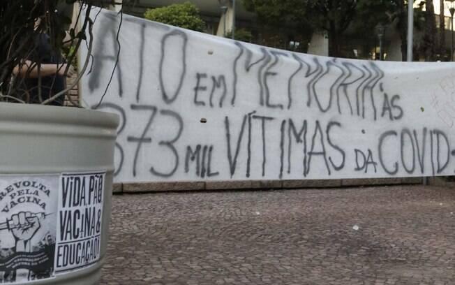 Grupo realiza ato em memória das vítimas da covid-19 em Campinas