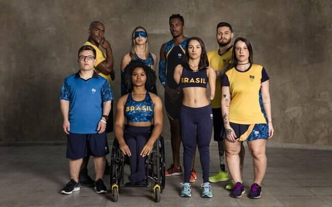 Alguns atletas brasileiros do Parapan 2019, em Lima, no Peru