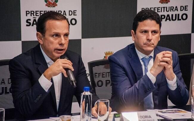 João Doria e o novo presidente do PSDB, Bruno Araújo