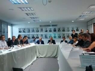 Reunião do Comitê de Crise Hídrica criado pelo governo Alckmin