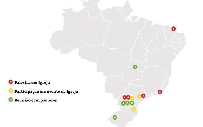 Estados e compromissos de Dallagnol em 2015