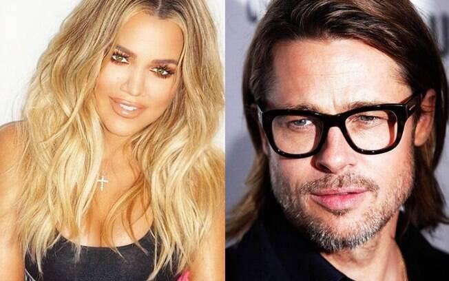 Khloé Kardashian tem um crush por Brad Pitt, mas quem não tem, né?