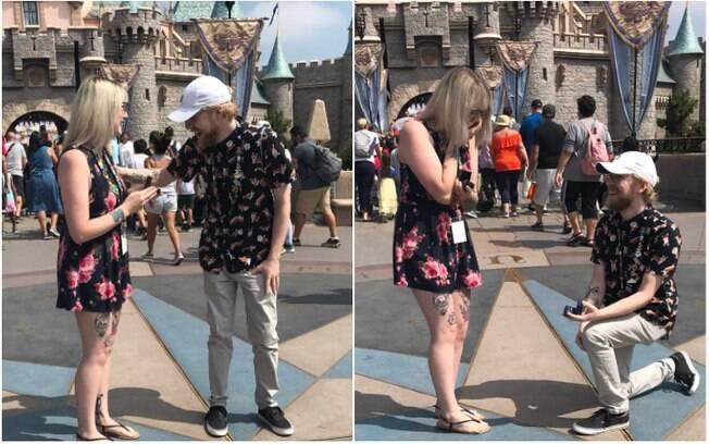 Jesse fez um pedido em casamento ao então namorado Kasey na Disney sem esperar que ele estivesse planejando o mesmo