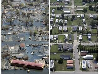 Antes e depois de Nova Orleans