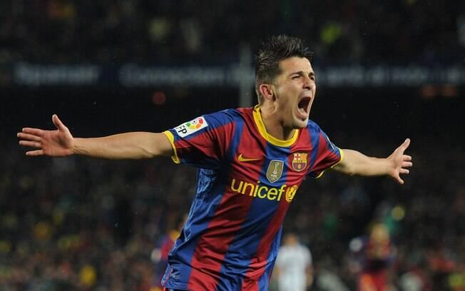 David Villa, pelo Barcelona