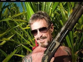 Antes da fuga: John McAfee em sua casa em Belize