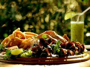 Frutos do mar. Um dos atrativos da gastronomia de Ilhabela