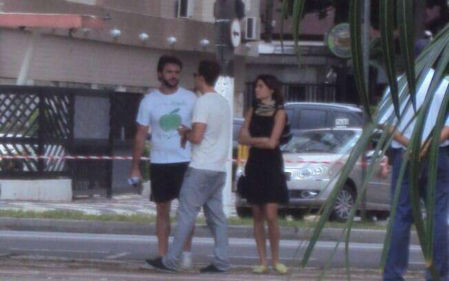 O casal, que trabalha junto pela primeira vez, gravou no Canal 3, na orla