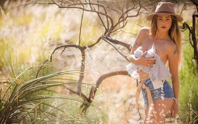 Ana Paula Saad posa sensual para revista