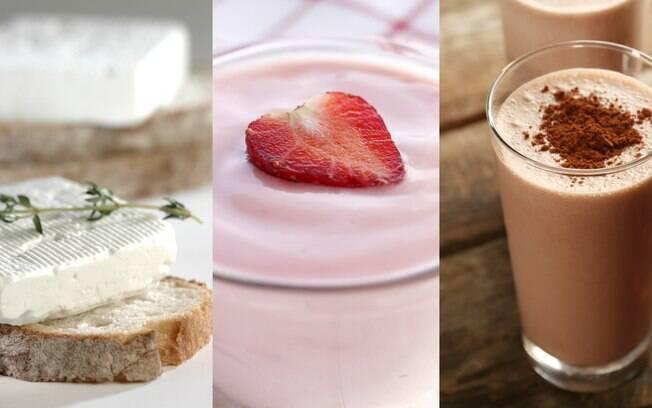 Queijo branco, iogurte e um achocolatado feito em casa são outras opções práticas para um lanche da tarde saudável