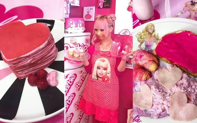 Até mesmo a comida que Azusa cozinha em casa é na cor rosa, que seria a favorita da Barbie e represente a marca