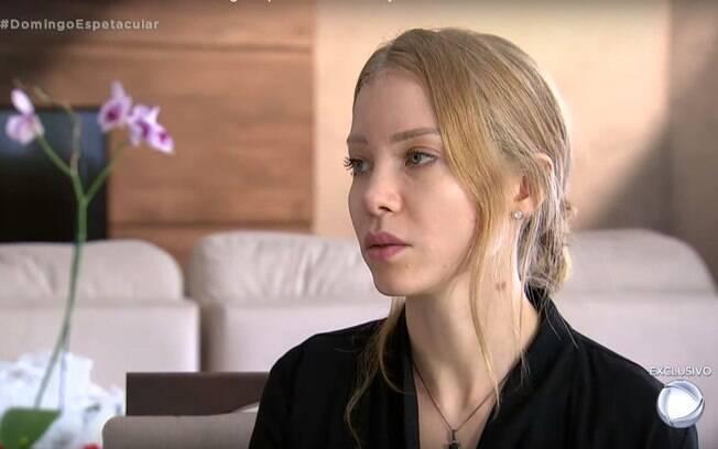 Najila Trindade em entrevista à TV Record