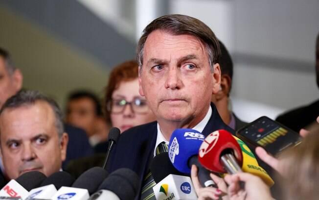 Bolsonaro durante entrevista coletiva