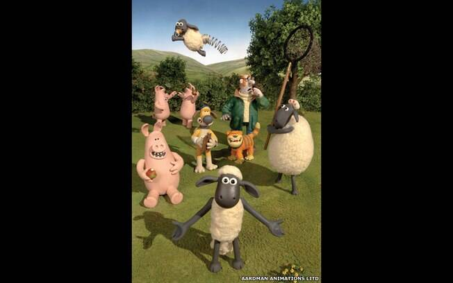 O personagem Shaun, a ovelha, do estúdio Aardman de animação
