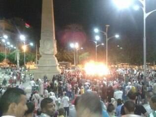 Várias torcedores tomaram as ruas da Cidade de Orã para celebrar a classificação