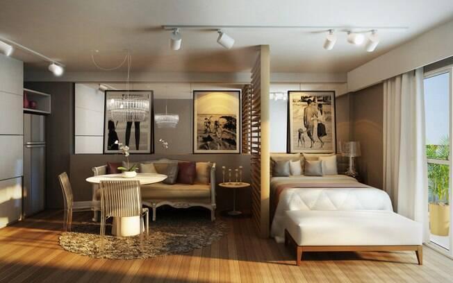 Apartamento decorado da Tecnisa abusa de espaços integrados e truques de decoração