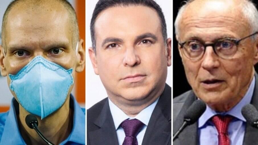 Bruno Covas, Reinaldo Gottino e Eduardo Suplicy