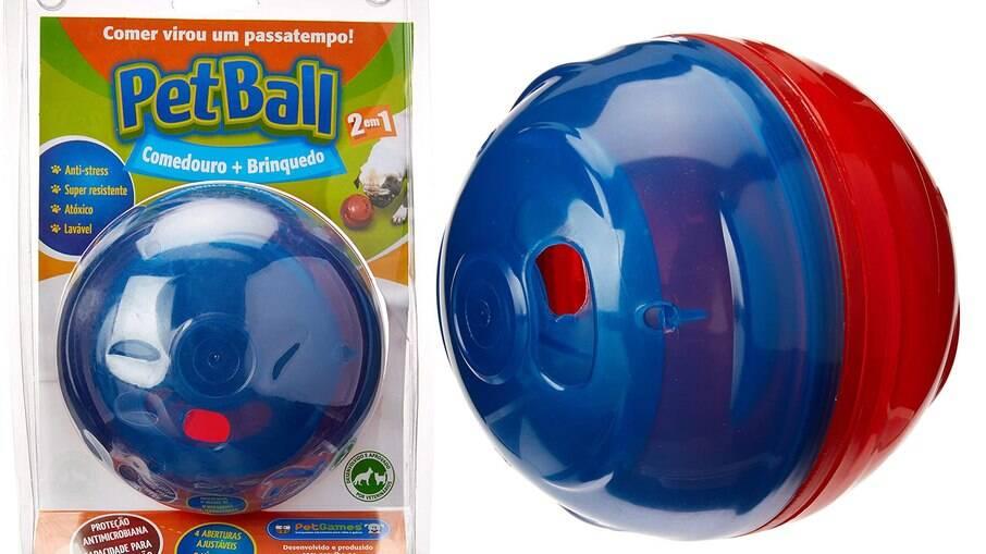comedouro pet ball é dois em um