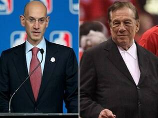 Comissário da NBA, Adam Silver, não perdoou Donald Sterling (direita)