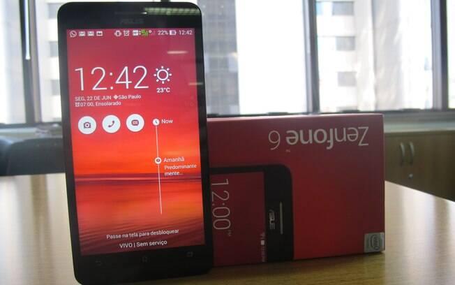 ZenFone 6 tem conectividade 3G, Wi-Fi e Bluetooth e roda Android 4.4.3