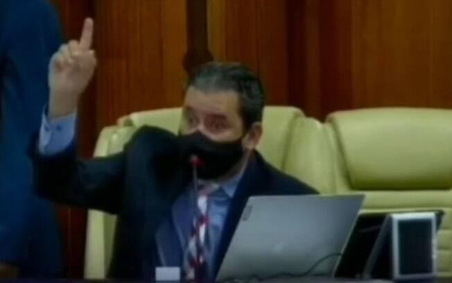 O vereador Clécio Alves nesta terça-feira (4)