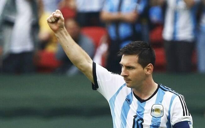 cde7440083a3e Messi comemora a vitória da Argentina contra a Nigéria. Foto  Reuters