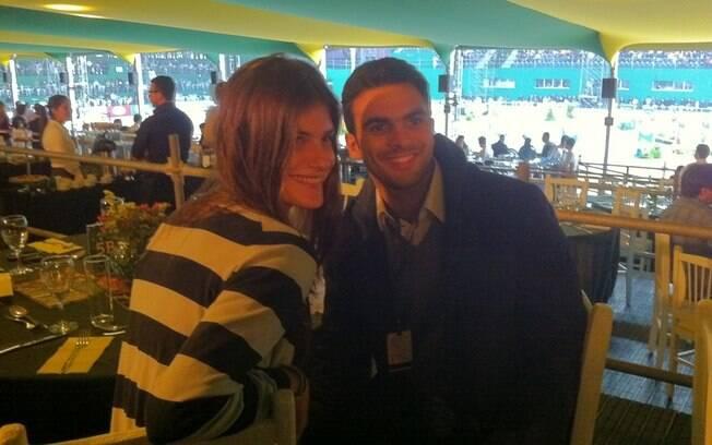 Carol Francischini e o namorado, Guilherme Valente