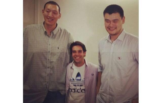 Kaká tieta jogadores chineses de basquete