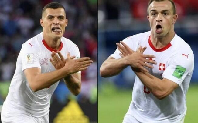 Xherdan Shaqiri e Xhaka (Arsenal) foram multados pela Fifa por comemoração pró-Kosovo