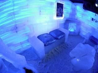 """O Glacio Bar, do museu Glaciarium, é """"estupidamente gelado"""""""