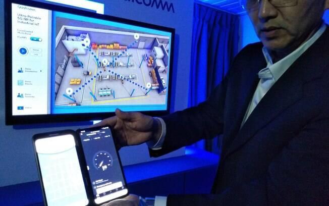 Helio Oyama demonstra as aplicações do 5G na Indústria 4.0