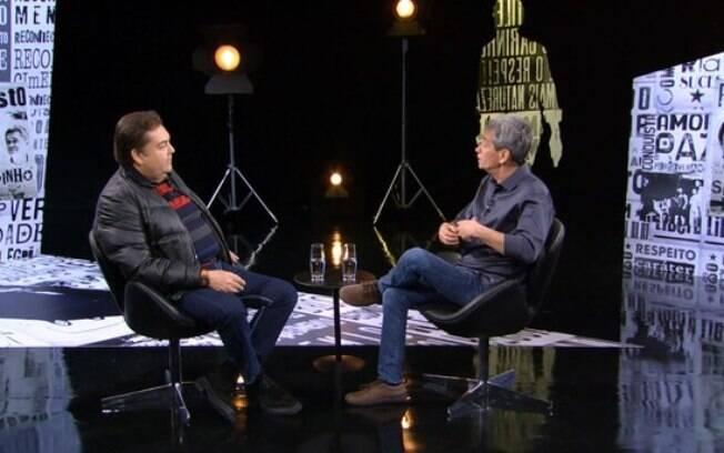 Faustão dá entrevista surpreendente para Sérginho Groisman