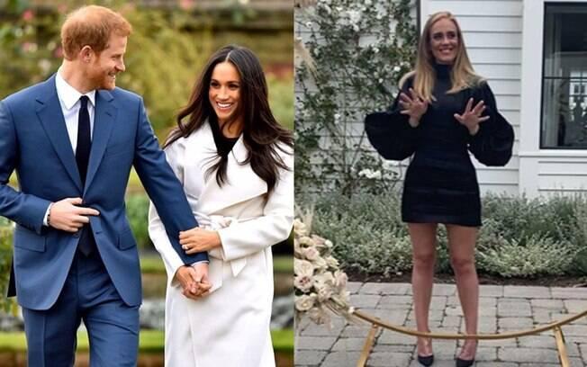 Adele se tornou amiga de Príncipe Harry e Meghan Markle