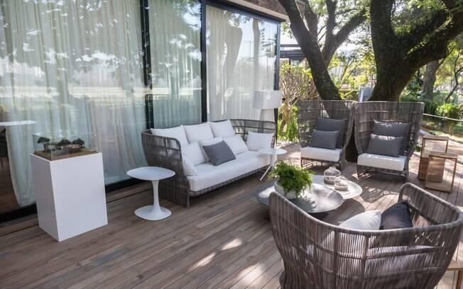 A varanda é um convite à contemplação da natureza