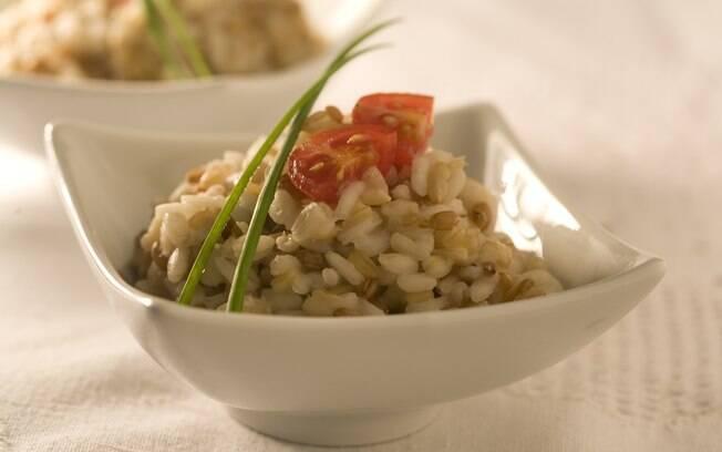 Foto da receita Risoto de grãos light (aveia, cevada e trigo) pronta.