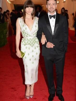 Os noivos Jessica Biel e Justin Timberlake