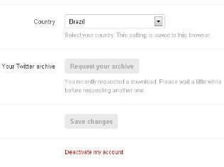Usuários brasileiros podem trocar idioma da conta para ter acesso a download de mensagens antigas