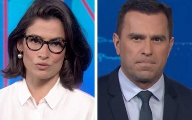 Renata Vasconcellos e Rodrigo Boccardi são citados em documentos do banco Bradesco