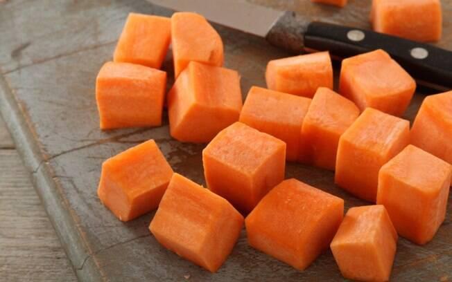 Corte de legumes parmentier