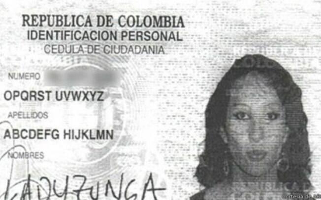 ABCDEFG se beneficiou da legislação colombiana sobre mudanças de nomes, bem mais liberal que a brasileira.