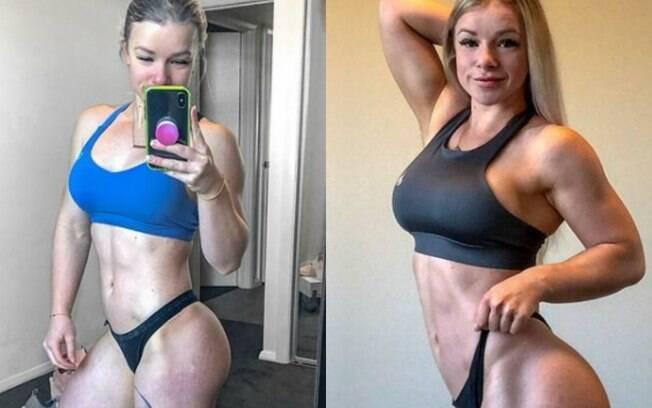 Chyanne Weatherby é influenciadora fitness e cansada de ouvir que tem um corpo masculinizado resolveu rebater